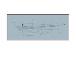 40' Waterline Schooner Blueprint