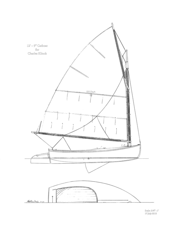 Plywood Catboat Boat Plans