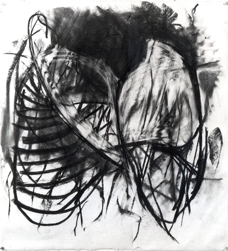 "charcoal drawing, ""entangled"""