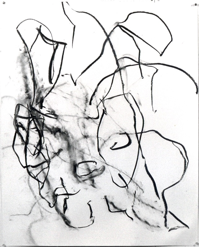 """charcoal drawing, """"interpenetrated"""""""
