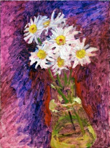 """Daisies"" 12"" x 16"" oil on canvasboard, © Antonio Dias"